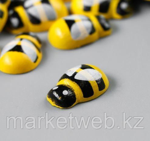 """Декор для творчества дерево """"Жёлтая пчёлка"""" набор 30 шт 0,9х1,3 см - фото 3"""