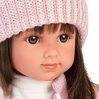 Кукла Llorens Сара 35см, шатенка в розовом жакете и белой кружевной юбке 53528