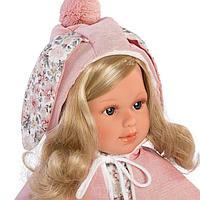 Кукла Llorens Лючия 40см, блондинка в розовой пелерине 54024
