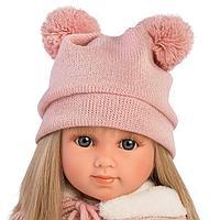 Кукла Llorens Елена 35см, блондинка в розовом костюме и шапке с двумя пумпонами 53525