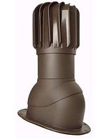 Вентиляционный выход с вращающей турбиной для плоских покрытий PNOPI-2 /150 цвет Коричневый (8017)