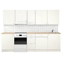 Кухня КНОКСХУЛЬТ белый 280x61x220 см ИКЕА, IKEA, фото 1