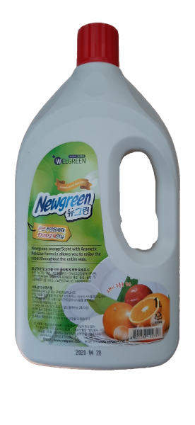Newgreen Гель для мытья посуды (Апельсин) Dishwashing Detergent  / 1 кг.