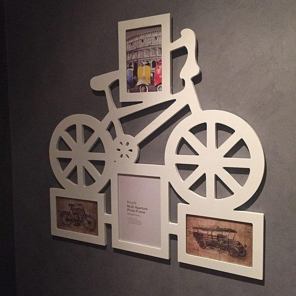 "Фоторамка ""Велосипед"" 4 фотографии"