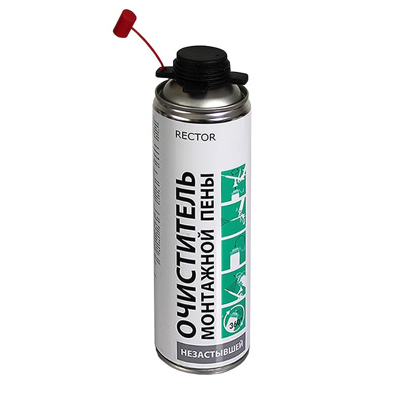 Очиститель монтажной пены RECTOR в аэрозольной упаковке 500мл