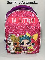 Школьный рюкзак для девочек в 1-й класс.Высота 37 см, ширина 28 см, глубина 15 см., фото 1