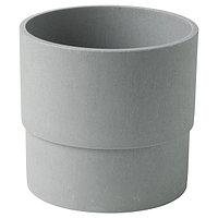 Кашпо НИПОН серый 12 см
