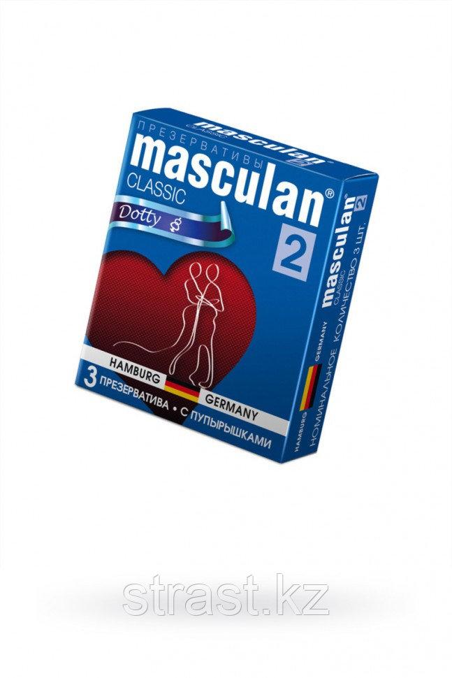 Презервативы с пупырышками Masculan Classic Dotty 2 (уп. 3 шт)