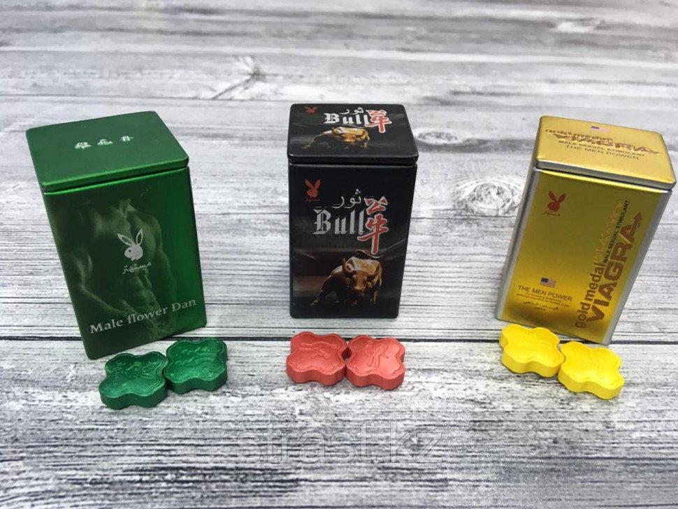 Возбудитель мужской для потенции Viagra Gold, Playboy, Bull (цена за 2 табл)