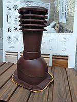 Вентиляционные выходы для профиля KRONA, Дюна , Фортуна , Андалузия (бочкообразные МЧ) Коричневый, фото 1