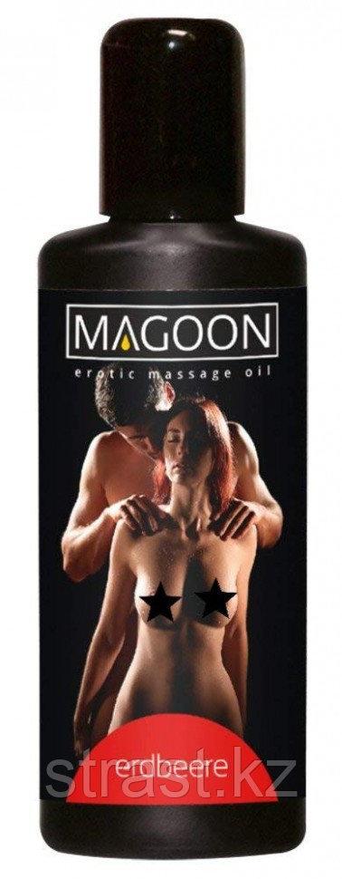 Массажное масло Magoon Erotik Massage oil с запахом клубники 50 ml