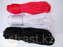 Веревка для связывания  10 метров (цвет:черный, красный)