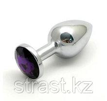 Массажер анальный Medium-Silver