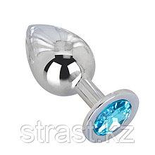 Большая серебряная пробка с кристаллом