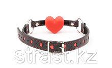 Чокер-кляп БДСМ с красным сердцем