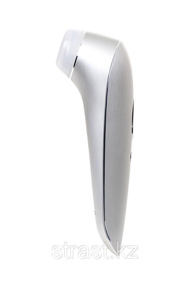 Вакуум-волновой бесконтактный стимулятор клитора Satisfyer Luxury High Fashion, алюминий+силикон, серебристый,