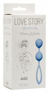 ВАГИНАЛЬНЫЕ ШАРИКИ LOVE STORY DIARIES OF A GEISHA SKY BLUE