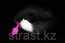 Анальная пробка с пушистым хвостом, силиконовая - Пикантные Штучки, 6 см