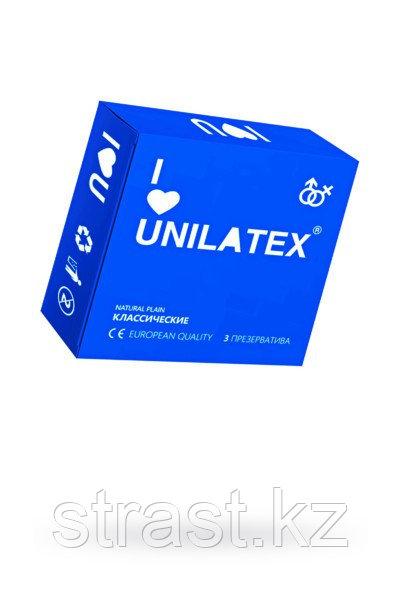 Презервативы классические гладкие Unilatex Natural Plain №3 (в уп. 3 шт)