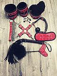 Стильный красно-черный набор БДСМ, фото 2