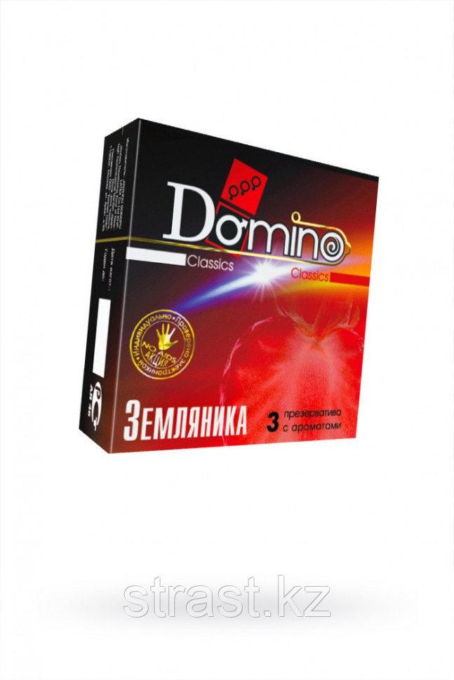 Презервативы Domino Classics Земляника, 18 см (в уп. 3 шт)