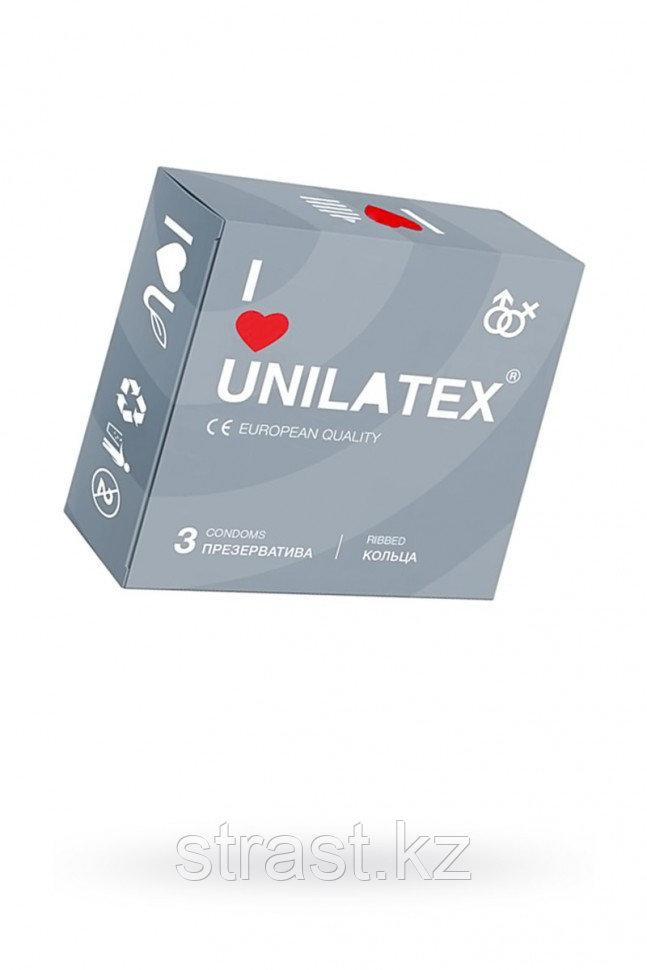 ПРЕЗЕРВАТИВЫ UNILATEX RIBBED №3 РЕБРИСТЫЕ (упаковка 3 шт)