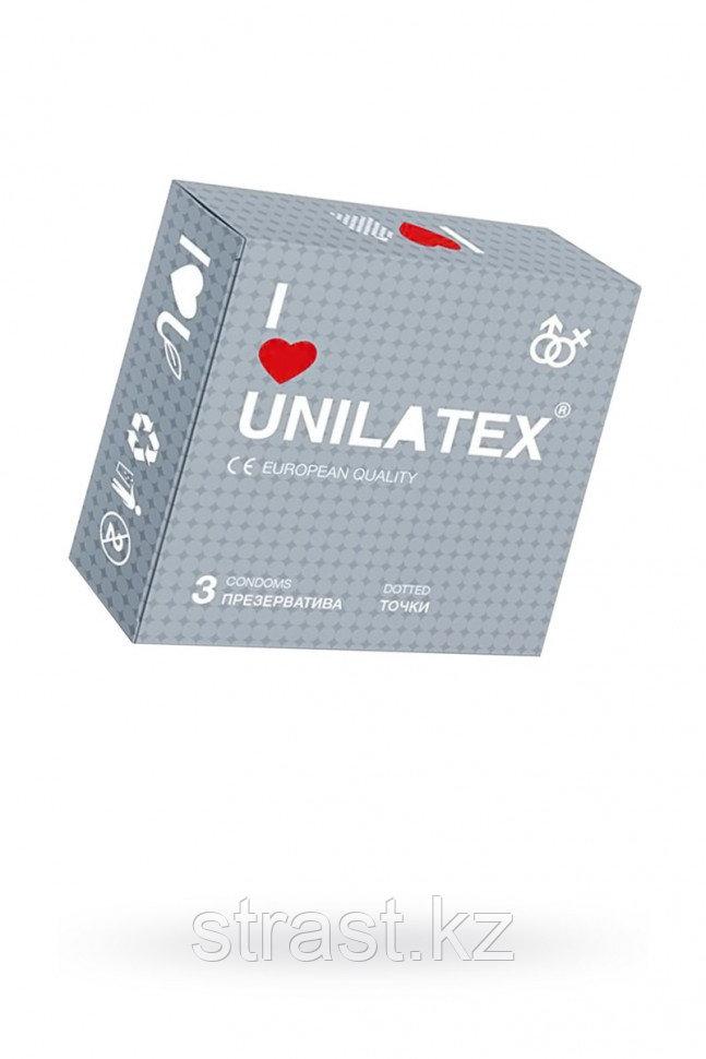 ПРЕЗЕРВАТИВЫ UNILATEX DOTTED №3 С ТОЧКАМИ (упаковка 3 шт)