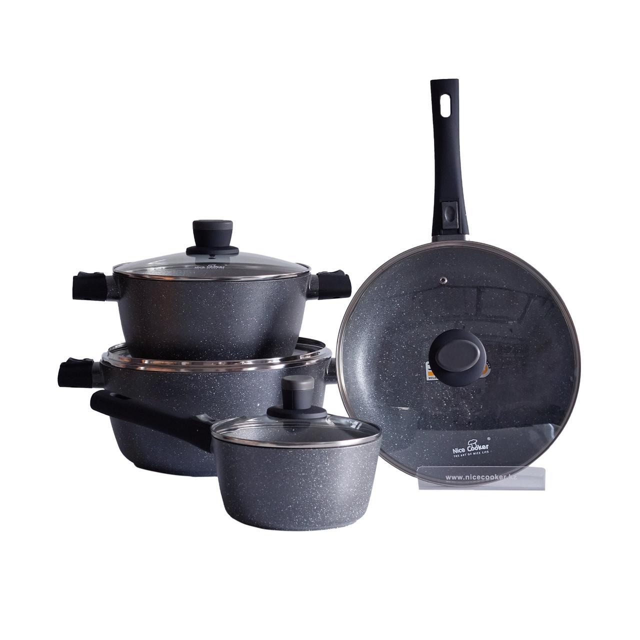 Набор посуды Nice Cooker Gemi Series 8 предметов