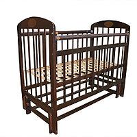 Детская кроватка Мой малыш 9 универсальный маятник Темный
