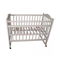 Детская кроватка Мой малыш 04 колесо/качалка слоновая кость