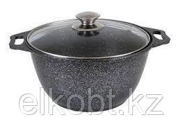 Кастрюля-жаровня 4,5п (темный мрамор) кмт47а
