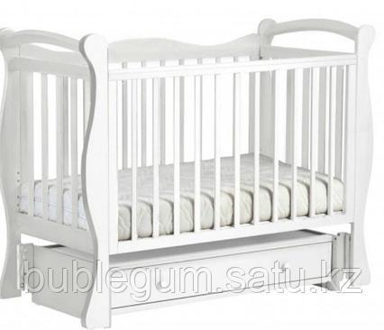 ЛЕЛЬ Кровать детская КУБАНОЧКА-10 маятниковая Белый Д 033
