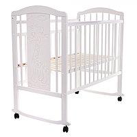 Детская кровать Pituso Noli Жирафик колесо-качалка Белый