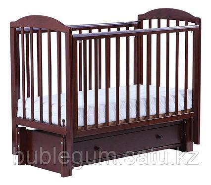 ЛЕЛЬ Кровать детская КУБАНОЧКА-5 маятниковая продольная Венге