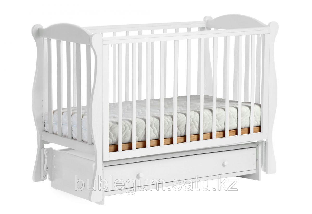 ЛЕЛЬ Кровать детская КУБАНОЧКА-6 маятниковая Белый