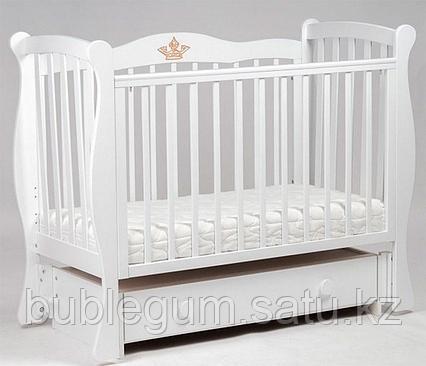 ЛЕЛЬ Кровать детская маятниковая Белый ДП 002