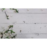 Фотофон винил 'Белые доски с цветущей яблонью' 80х125 см