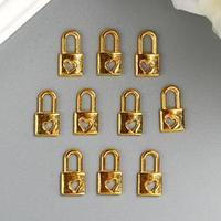 Подвеска 'Замочек', цвет золото (комплект из 10 шт.)