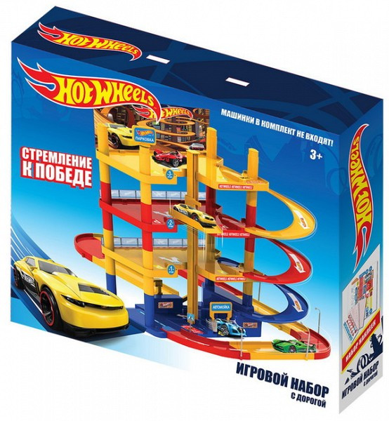 Hot Wheels Игровой набор Четырехуровневая парковка Хот Вилс с автомойкой