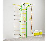 Шведская стенка Romana 0270, (зелёное яблоко), турник, массажные ступени для лестниц