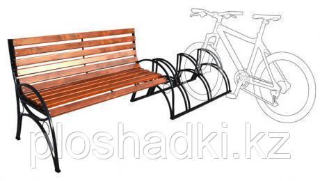 Велопарковка со скамейкой