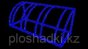 Велопарковка синяя железная