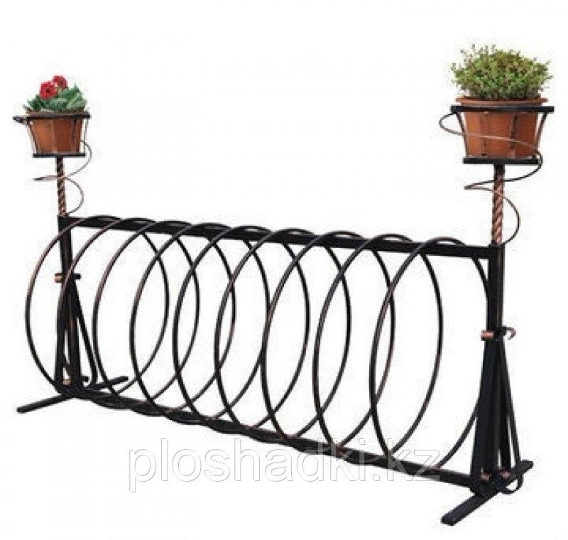 Велопарковка с подставкой для цветов, круглая