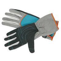 Перчатки текстильные, с замшевыми ладонями, размер 7