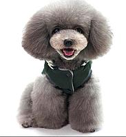 Безрукавка цвета хаки для собаки