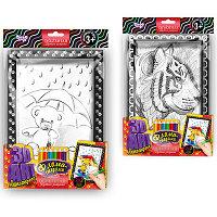 "Набор креативного творчества "" 3D ART Антистрес раскраска с фломастерами Мишка под зонтом-Тигр"""