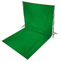 Студийный тканевый зеленый фон - хромакей 5 м × 2,3 м, фото 3
