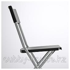 ТЭРЕНДО / ГУНДЕ Стол и 4 стула, черный, 110 см, фото 2