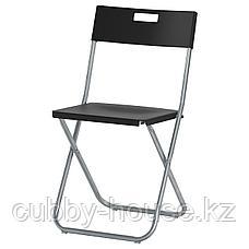 ТЭРЕНДО / ГУНДЕ Стол и 4 стула, черный, 110 см, фото 3