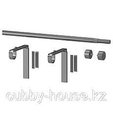 РЭККА Гардинный карниз/комбинация, серебристый, 70-120 см, фото 3
